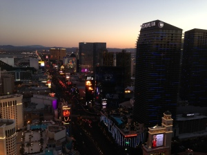 The Las Vegas Strip at sunset