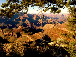 Sunset at the south rim of the Grand Canyon. There was no way I could be distracted by a phone call while taking in this view.