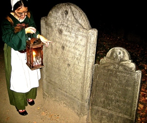 """Mercy"" taking us on a graveyard tour on Halloween night. We saw no ghosts."
