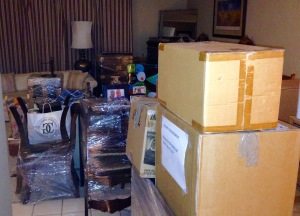 The chaos of moving day, but it eventually gets unpacked and organized.